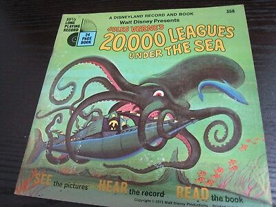 Disneyland Record and Book -20,000 Leagues Under the Sea- SEE, HEAR, READ