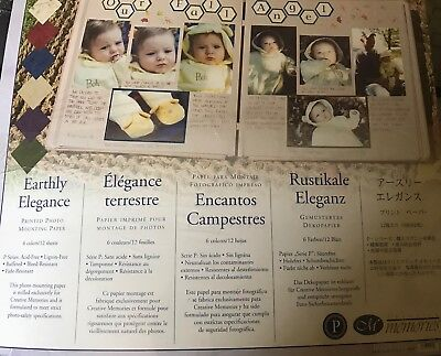 """Creative Memories 10"""" X 12"""" EARTHLY ELEGANCE PHOTO MOUNTING PAPER - 12 SHEETS"""