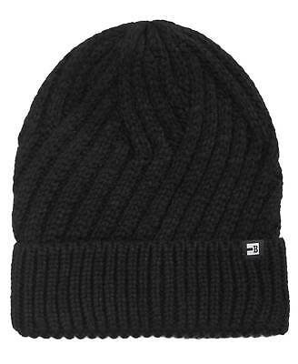 95 BLOCK HATS Men BLACK KNIT CUFFED HAT WINTER SKI SKULL CAP BEANIE ONE  SIZE 9e1bfba430cc