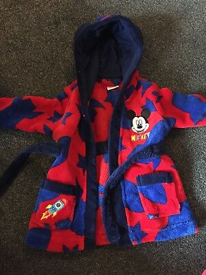Boys Mickey mouse Dressing Gown 3-6 Months