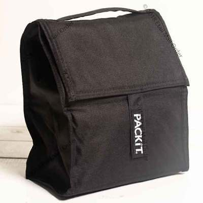 Packit Eco-Gel Lined Personal Cooler Mini Freezable Lunch Bag - Black