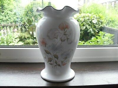 "DENBY ""ENCORE"" (SWEET PEA)  LARGE VASE HANDTHROWN! FLARED TOP RIM, 25.5 x 15cm"