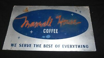 "Rare 1940's Maxwell House Script Coffee Sign Radio Lite Neon Ribbon 11.5"" x 6.5"""