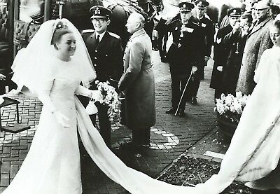 PRINZESSIN MARGRIET-PIETER-Oranje-ROYAL WEDDING-1967-ORIGINAL POSTCARD-Monarchie
