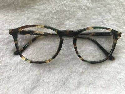 SEE Eyewear 9237 Made in Italy Tortoise Shell Green Brown Hipster Glasses