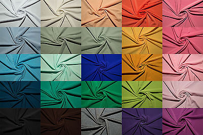 """ITY Fabric Polyester Lycra Spandex Stretch 50 Colors 56""""-58"""" Medium Weight BTY"""