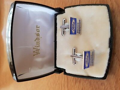 ORIGINAL FORD TRACTOR cufflinks in original Windsor box MINT CONDITION