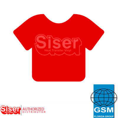 "SISER HTV EasyWeed Heat Transfer Vinyl 12"" x 5 yards RED"