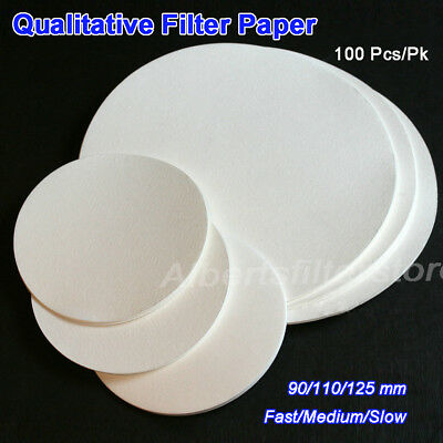 Lab Filter Paper Qualitative Pack of 100 School Chemistry Science Choice of Size