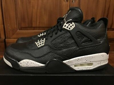 46ea864fbbc3b AIR JORDAN IV 4 Retro LS Oreo Black Leather Grey Men Basketball Shoes  314254 003