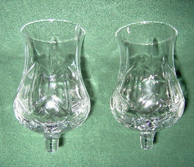 Home Interior/homco Set Of 2 Clear Hurricane Votive Cups/candle Holders/sconce