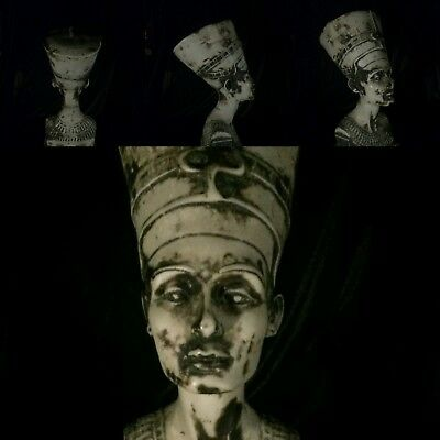 low outbid!!! ANTIQUE EGYPT STATUE QUEEN NEFERTITI HEAD BIG 5KG! Very good ex