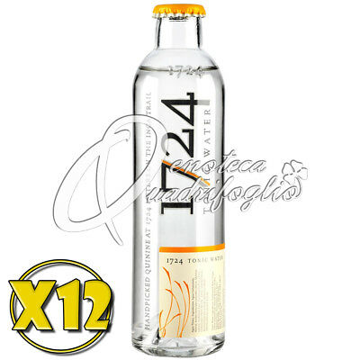 12X Tonic Water 1724 Acqua Tonica Drinks Mixer Cocktail 20Cl Drink