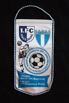 DDR-Wimpel Fußball Europacup 1. FC Magdeburg-M.F.F. Malmö 1975