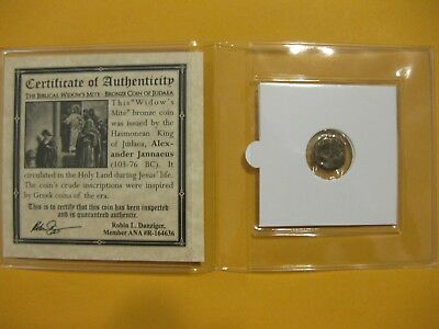 """""""The Widows Mite"""" 2000 year old coin Bible story gift for religion Christian ss"""