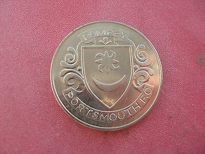 Portsmouth F.a. Cup Centenary 1872-1972  Silver Coloured Medal Token Coin