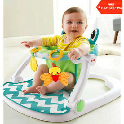 Fisher Price Sit Me Up Floor Seat Baby Activity Chair With Toys For Motor Skills