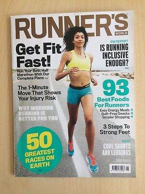 Runner's World Running Magazine August 2018 Boston Marathon Tour de France Run!