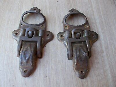 Antique Steamer trunk parts 2 Latches (brass plated)