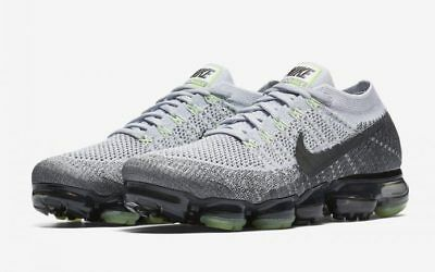 Nike Air VaporMax Flyknit size 12. Heritage Neon Pack Pure Platinum. 922915-002.
