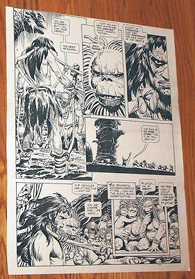 B&W Stat proof art 14.5 X 19 Joe Kubert Tor #2 Page 40 1993 Marvel Epic Comics
