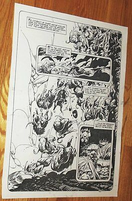 B&W Stat proof art 14.5 X 19 Joe Kubert Tor #2 Page 34 1993 Marvel Epic Comics