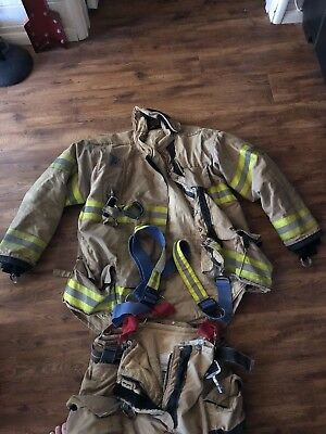Morning Pride PBI Max Fire Fighter Turnout Bunker Gear Coat & Pants 3/31/13