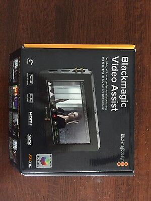 "Blackmagic Design Video Assist HDMI/6G-SDI Recorder and 5"" Monitor Never Used"