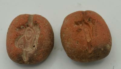 Ancient Egyptian Amulet Molds (2)~Eye of Horus~1300 BC~Nice