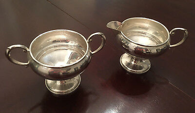 Sterling cream and sugar Mueck Cary, weighted, vintage