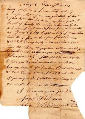 1803, Isaac Skidmore, Huntington, Long Island, purchase of a sloop, letter sign
