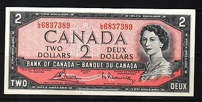 Canada - 1954 Bank of Canada 2 Dollar Banknote P76c  Banknote XF+++ QEll