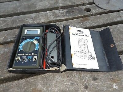 old otc multimeter plus make in USA with book and case