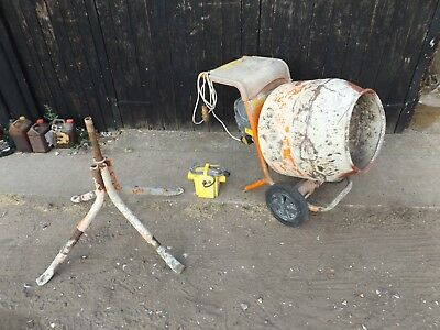 belle 110v cement mixer barrow type with transformer and stand