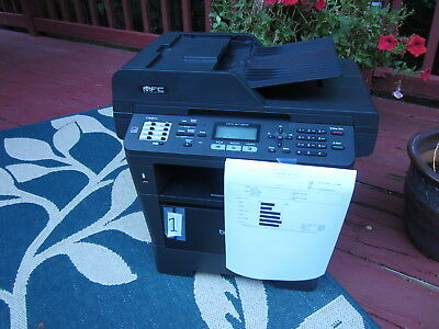 Brother MFC-8710DW AIO 40PPM B/W Laser Printer Fax Scan Copy ADF Wireless #1
