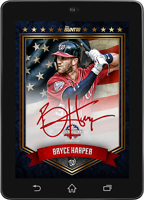 Topps BUNT Bryce Harper Premium SIGNATURE All-Star Game 2018 [DIGITAL CARD]