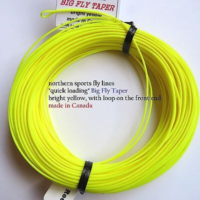 WF-6-F FLY LINE (big fly taper) with LOOPS Northern Sports Made in Canada