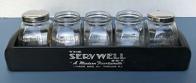 Vintage Art Deco Limperts Servwell Soda Fountain Ive Cream Parlor Counter Set