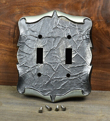Vintage Amerock Carriage House Duplex Light Switch Plate Outlet Pewter Scroll
