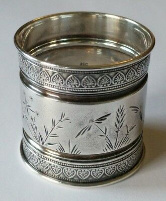 Antique Gorham Sterling Etched Napkin Ring