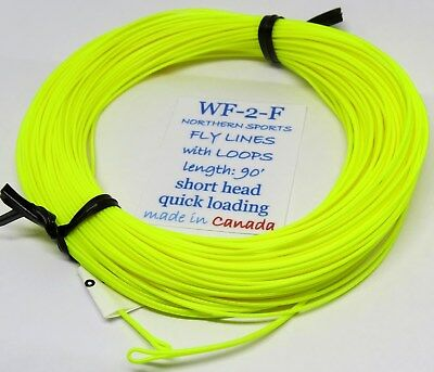 WF-2-F FLY LINE gpx taper w/ LOOPS (Northern Sports Floating Fly Line)