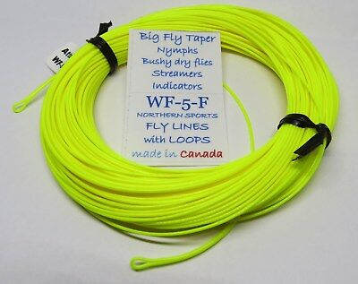 WF-5-F FLY LINE big fly taper w/ LOOPS (Northern Sports Floating Fly Line)