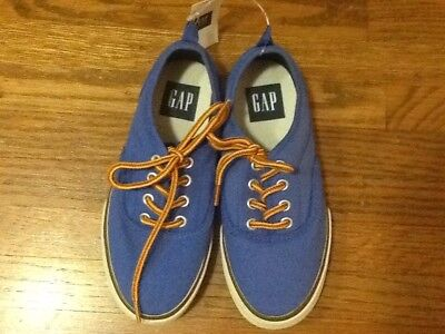 Gap Kids Boys Blue Canvas Shoes Sneakers Size 13 Nwt