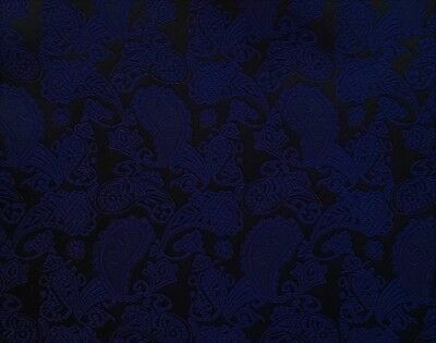 """Navy Mid-Night Navy 100% Silk 9 1/2"""" Square Rolled Edge Handemade Pocket Square"""