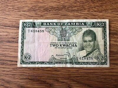 Bank of Zambia Two Kwacha in Fine Condition