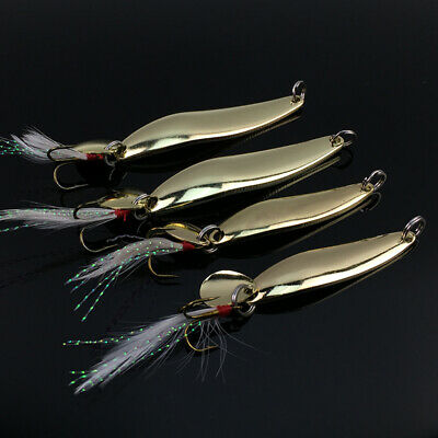 Lot 4pcs Trout Spoon Metal Fishing Lures Spinner Baits Crank Bass Tackle New