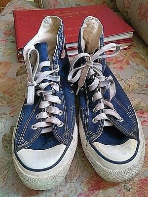 Vintage Blue High Top Converse All Star Size 10 1/2 USA Chuck Taylor Preowned VG