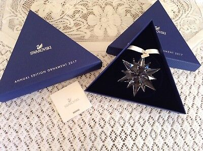 NIB Swarovski Annual Edition Large Crystal Snowflake Ornament 2017