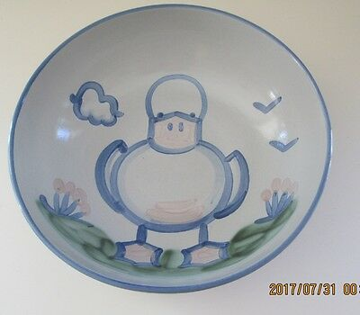 "M.A. Hadley Pottery DUCK 11"" Jumbo Large Deep Salad Pasta Serving Bowl"