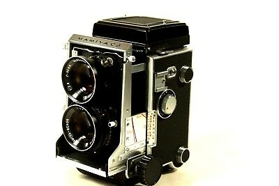 Mamiya C3 with 80 2.8 blue dot lens, body clean, glass some fungus